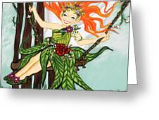 Swinging Into Spring Greeting Card