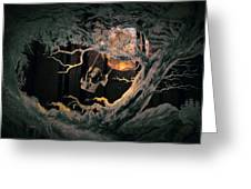 Swinging Through The Forest By Moonlight Greeting Card