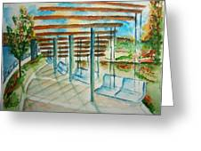 Swings At Smale Park Greeting Card