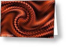 Swirl Creativiana Catus 1 No.2 H A Greeting Card