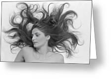 Swirl Girl Greeting Card by Gerard Fritz