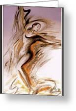 Swirl Girl Greeting Card