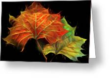 Swirling In The Wind Greeting Card