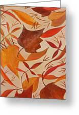 Swirling Leaves Greeting Card