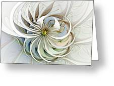 Swirling Petals Greeting Card
