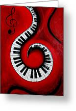 Swirling Piano Keys- Music In Motion Greeting Card