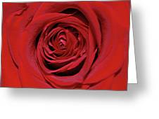 Swirling Red Silk Greeting Card