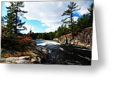 Swirling River Greeting Card