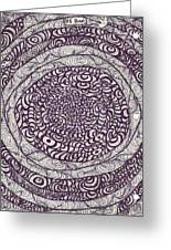 Swirling Spirals Greeting Card