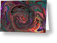 Swirlpool Squared Greeting Card