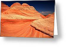 Swirls And Petrified Dunes Greeting Card