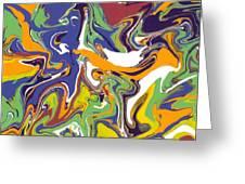 Swirls Drip Art Greeting Card