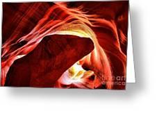 Swirls Of Fire Greeting Card