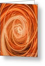 Swirls Of Orange Greeting Card