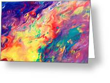 Swirls Of Paint IIi Greeting Card