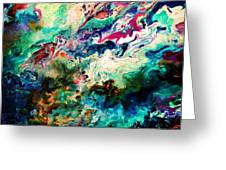 Swirls Of Paint Xii Greeting Card