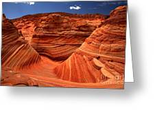 Swirls Waves And Buttes Greeting Card