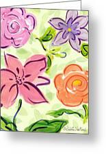 Swirly Flowers Greeting Card