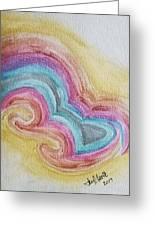 Swirly Rainbow Greeting Card