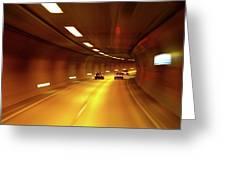 Swiss Alpine Tunnel Greeting Card