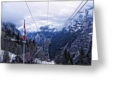 Swiss Funicular Greeting Card