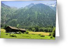 Swiss Mountain Home Greeting Card