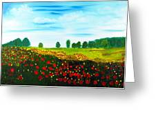 Swiss Poppies Greeting Card
