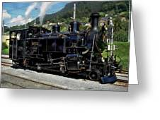 Swiss Steam Locomotive Greeting Card