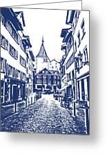 Swiss Street Greeting Card