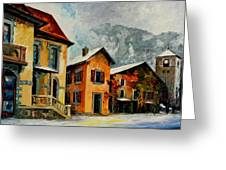 Switzerland - Town In The Alps Greeting Card
