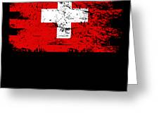 Switzerland Gift Country Flag Patriotic Travel Shirt Europe Light Greeting Card