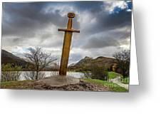 Sword Of Llanberis Snowdonia Greeting Card