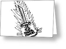 Sword With Magical Powers Greeting Card