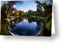 Sycamore Pool Through A Glass Eye Greeting Card