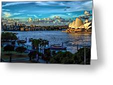 Sydney Harbor And Opera House Greeting Card