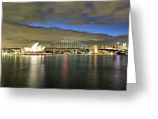 Sydney Harbor At Blue Hour Greeting Card