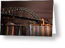 Sydney Harbor At Night Greeting Card