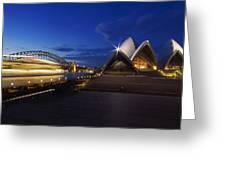 Sydney Opera House At Night Greeting Card