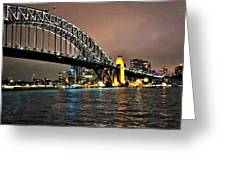 Sydney Harbor Bridge Night View Greeting Card