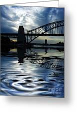 Sydney Harbour Bridge Reflection Greeting Card