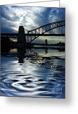 Sydney Harbour Bridge Reflection Greeting Card by Avalon Fine Art Photography