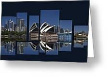 Sydney Harbour Collage Greeting Card