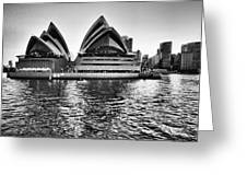 Sydney Opera House-black And White Greeting Card