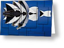 Sydney Opera House Collage Greeting Card