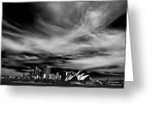 Sydney Skyline With Dramatic Sky Greeting Card