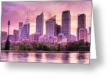 Sydney Tower Skyline At Sunset Greeting Card