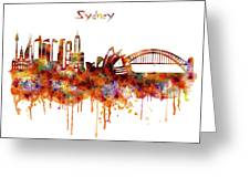 Sydney Watercolor Skyline Greeting Card