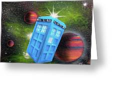 Syfy- Tardis 3 Greeting Card