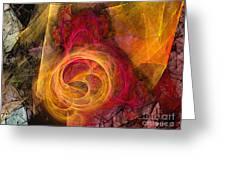 Symbiosis Abstract Art Greeting Card