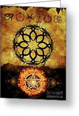 Symbols Of The Occult Greeting Card